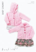 Hayfield Baby Chunky - 4409 Cardigans Knitting Pattern